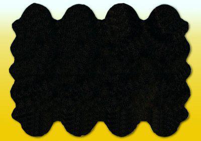 Fellteppiche schwarz gefärbt aus 8 Lammfellen, Größe ca. 185 x 235 cm, 30 Grad waschbar