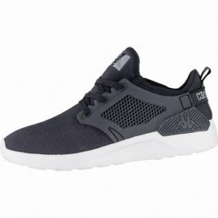Kappa Talent modische Damen, Herren Textil Synthetik Sneakers black, herausnehmbares Kappa Fußbett, 4240124