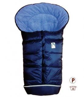 molliger Baby Winter Fleece Fußsack marineblau, für Tragschalen, Autositze, ca. 79x39 cm - Vorschau 1