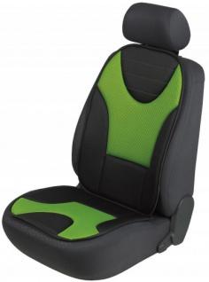 extra weicher Universal Auto Sitzaufleger Grafis grün, hohes Rückenteil, 9 mm Schaumstoff, waschbar, PKW Sitzschoner