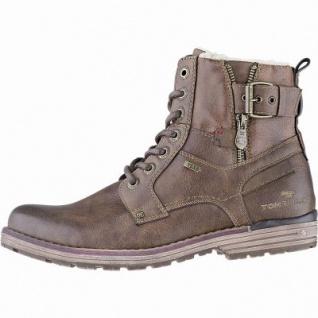 TOM TAILOR sportliche Herren Leder Imitat Winter Tex Boots rust, 14 cm Schaft, Warmfutter, warmes Fußbett, 2541116