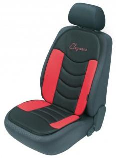 ergonomische Universal Polyester Auto Sitzauflage Gerini rot, hohes Rückenteil, weich gepolstert, waschbar, alle PKW