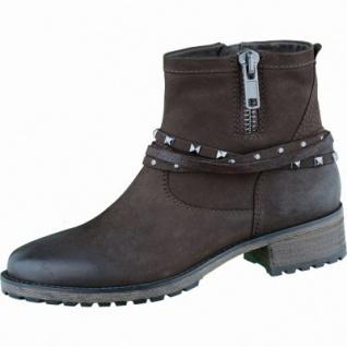 SPM Damen Leder Stiefel dark brown, Nubukleder, 1635233/37