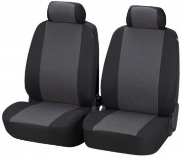 komfortable Universal Polyester KFZ Schonbezüge Pineto, Bezug 2 Vordersitze grau waschbar, für Seitenairbag