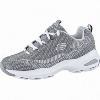 Skechers D Lite Ultra coole Damen Mesh Sneakers grey, Skechers Air Cooled Memory Foam-Fußbett, 4240202