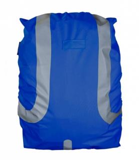 Safety Maker Rucksack Regenschutz reflektierend blau wasserbeständig 45 Liter...