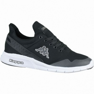 Kappa New York coole Damen, Herren Mesh Synthetik Sneakers black white, Sneaker Laufsohle, 4238205/41
