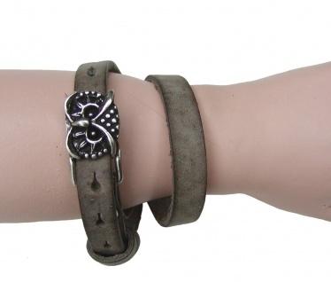Boom Belts Wechselschließe Eule silber für Damen, Herren Leder Armbänder mit ...