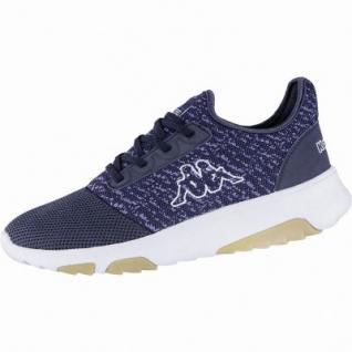 Kappa Share modische Damen, Herren Textil Synthetik Sneakers navy, herausnehmbares Kappa Fußbett, 4240121