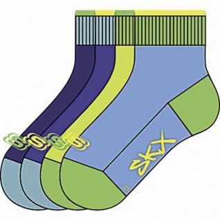 Skechers Basic Quarter Boys Jungen Socken caribic, 4er Pack Skechers Jungen Socken bunt, 6539122/23-26