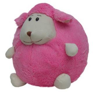 süßes superweiches Stofftier Kuscheltier Kugel Schaf aus Mikrofaser pink, voll waschbar bei 30 Grad, Ø ca. 35 cm