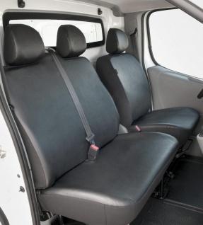 Passform Sitzbezüge Nissan Primastar, passgenauer Kunstleder Sitzbezug Einzel...