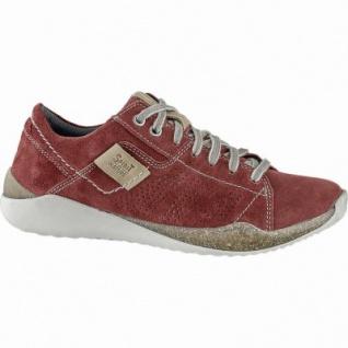 neuartiges Design Preis Vielzahl von Designs und Farben Josef Seibel Ricky 05 Damen Leder Sneakers rot, Josef Seibel Leder Fußbett,  1240233/37
