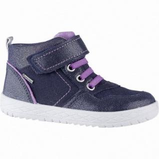 Superfit warmer Mädchen Leder Sneaker blau, angerautes