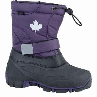 Canadians Mädchen Winter Synthetik Tex Boots lilac, Warmfutter, weiches Fußbett - Vorschau 1