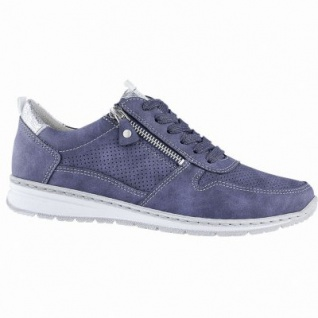 Jenny Sport Sapporo sportliche Damen Synthetik Sneakers indigo, Fußbett, Extra Weite H, Relax-Insole, 1340161