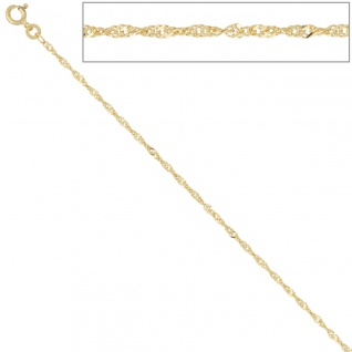 Singapurkette 585 Gelbgold 1, 8 mm 45 cm Gold Kette Halskette Goldkette Federring