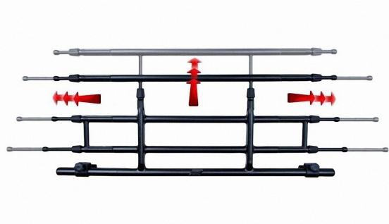 G3 PKW Hunde Transport Gitter, Gepäck Schutzgitter, 85-140 breit, 26-46 hoch,...