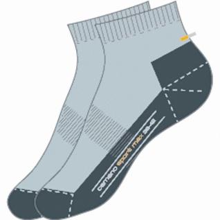 Camano Sport Quarter Sport NOS grau, 2er Pack Damen, Herren Socken