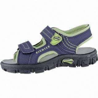 Richter modische Jungen Synthetik Sandalen atlantic, weiches Leder Fußbett, 3540155