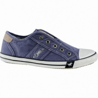 Mustang coole Damen Canvas Sneakers jeans, Slip-on, Mustang Laufsohle, Textilfutter, 1240202