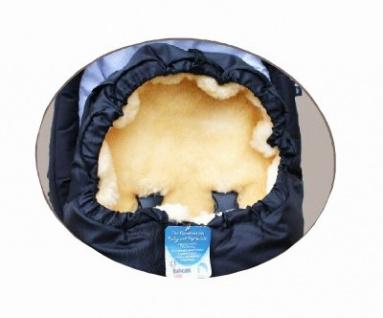 großer Baby Premium Winter Lammfell Fußsack schwarz waschbar, Kinderwagen, Buggy, ca. 100x44 cm, komplett aufklappbar - Vorschau 2