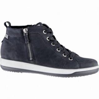 Jenny Miami modische Damen Synthetik Sneaker Boots schwarz, Comfort Weite G, Warmfutter, Leder Fußbett, 1739136
