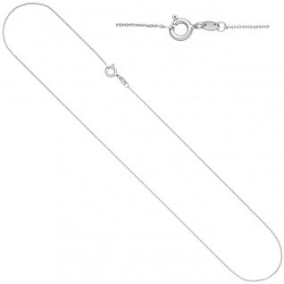 Ankerkette rund 585 Gold Weißgold 0, 9 mm 40 cm Kette Halskette Weißgoldkette - Vorschau 2