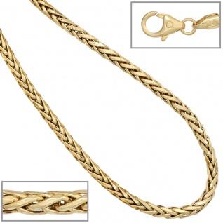 Zopfkette 585 Gelbgold 2, 6 mm 45 cm Gold Kette Halskette Goldkette Karabiner - Vorschau 4