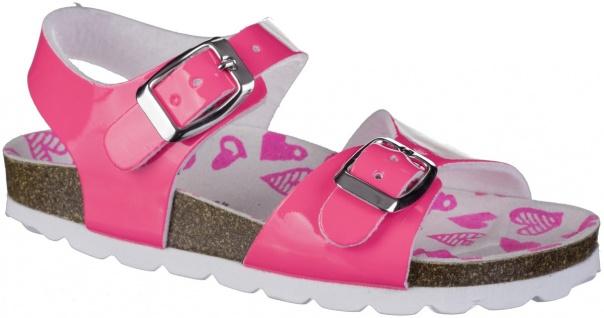S.OLIVER Mädchen Lack Sandalen neon pink, biegsame Laufsohle