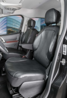 2 Stück Passform Transporter Vorder Sitzbezüge Citroen Berlingo 2, passgenaue...