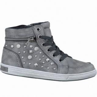Be Mega Mädchen Synthetik Sneaker Boots coal, leichtes Warmfutter, weiches Fußbett, 3737214/36