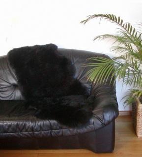 australische Doppel Lammfelle aus 1, 5 Fellen schwarz gefärbt, voll waschbar, ...