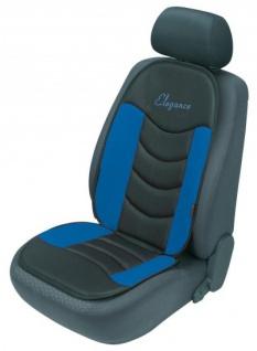 ergonomische Universal Polyester Auto Sitzauflage Gerini blau, hohes Rückenteil, weich gepolstert, waschbar, alle PKW