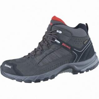 Meindl Journey Mid GTX Herren Leder Mesh Outdoor Schuhe anthrazit, Air-Active-Wellness-Sport-Fußbett, 4438167/9.0