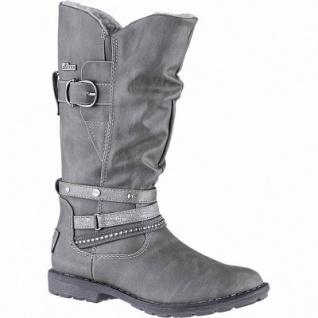 s.Oliver Mädchen Leder Imitat Winter Tex Stiefel grey, 26 cm Schaft, Warmfutter, weiches Soft Foam Fußbett, 3739228
