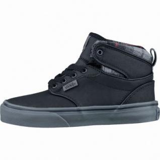 Vans Atwood Hi Jungen Synthetik Sneakers flannel black bungee, Warmfutter, weiche Vans-Decksohle, 3437102