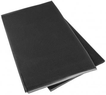 Kofferraum PVC Anti Rutsch Matte, Gummi Matte 100x120 cm schwarz, beidseitig ...