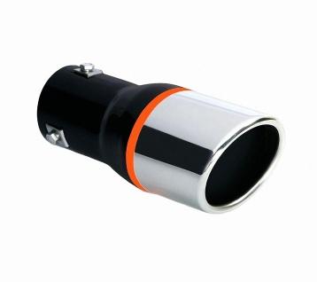 LAMPA TS-25 Universal Edelstahl Auspuff Blende, Endrohr, Ø 37-48 mm, 180x90x7...