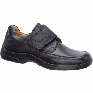 Jomos Herren Leder Halbschuhe schwarz, Extra Weite, Lederfutter, herausnehmbares Lederfußbett, 2129164/40