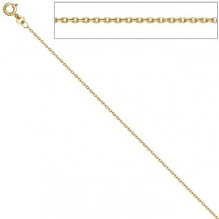 Ankerkette 333 Gelbgold 1, 2 mm 38 cm Gold Kette Halskette Goldkette Federring