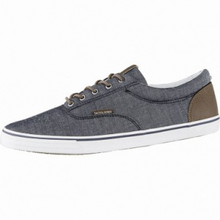 Jack&Jones JFW Vision Chambray coole Herren Canvas Sneakers anthracite, Textilfutter, Sneaker Laufsohle, 2140119/41