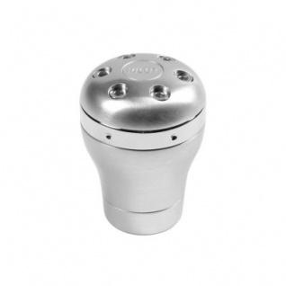 LAMPA edler Universal Schaltknauf SPIDER Diamant Look, Aluminium gebürstet, Schaltkopf, Schalthebel