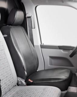 Universal Kunstleder Transporter Sitzbezug anthrazit waschbar, auch für Seitenairbags, 1 Vordersitzbezug+Kopfstütze