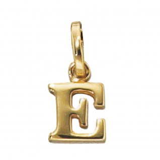 Anhänger Buchstabe E 333 Gold Gelbgold Buchstabenanhänger