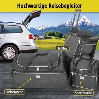 Carbags leichte Sporttaschen 45 - 80 L, schwarz, 3 Außenfächer, separates Sch...