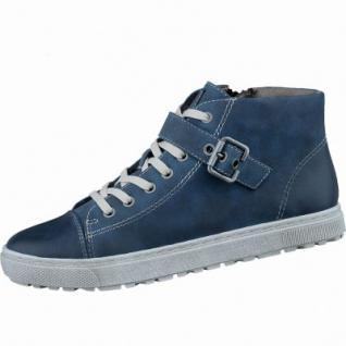 Soft Line coole Damen Fettvelour Sneakers navy, Extra Weite H, Kaltfutter, Soft Line-Fußbett, 1337103