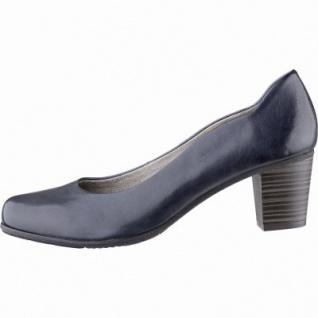 Jana klassische Damen Leder Pumps navy, weiches Comfort Fußbett, Soft Flex System, Extra Weite H, 1142117/4.0
