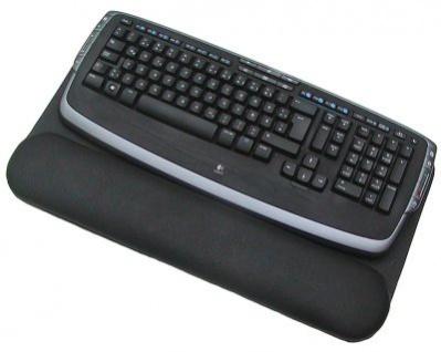 Leder Tastatur Unterlage schwarz mit Handballenauflage, ideal für Mac, Trackpads