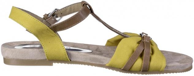 TOM TAILOR Damen Textil Sandalen yellow, weiche Decksohle